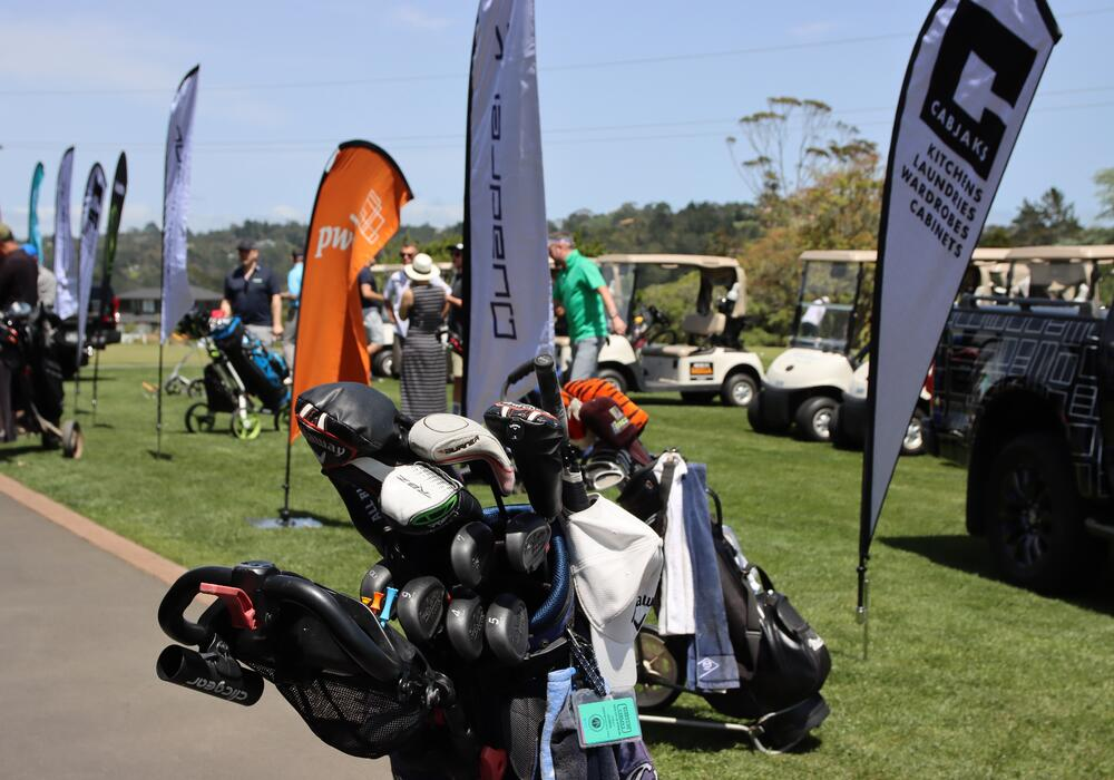2 - Quadrent Charity Golf Clubs and Flags