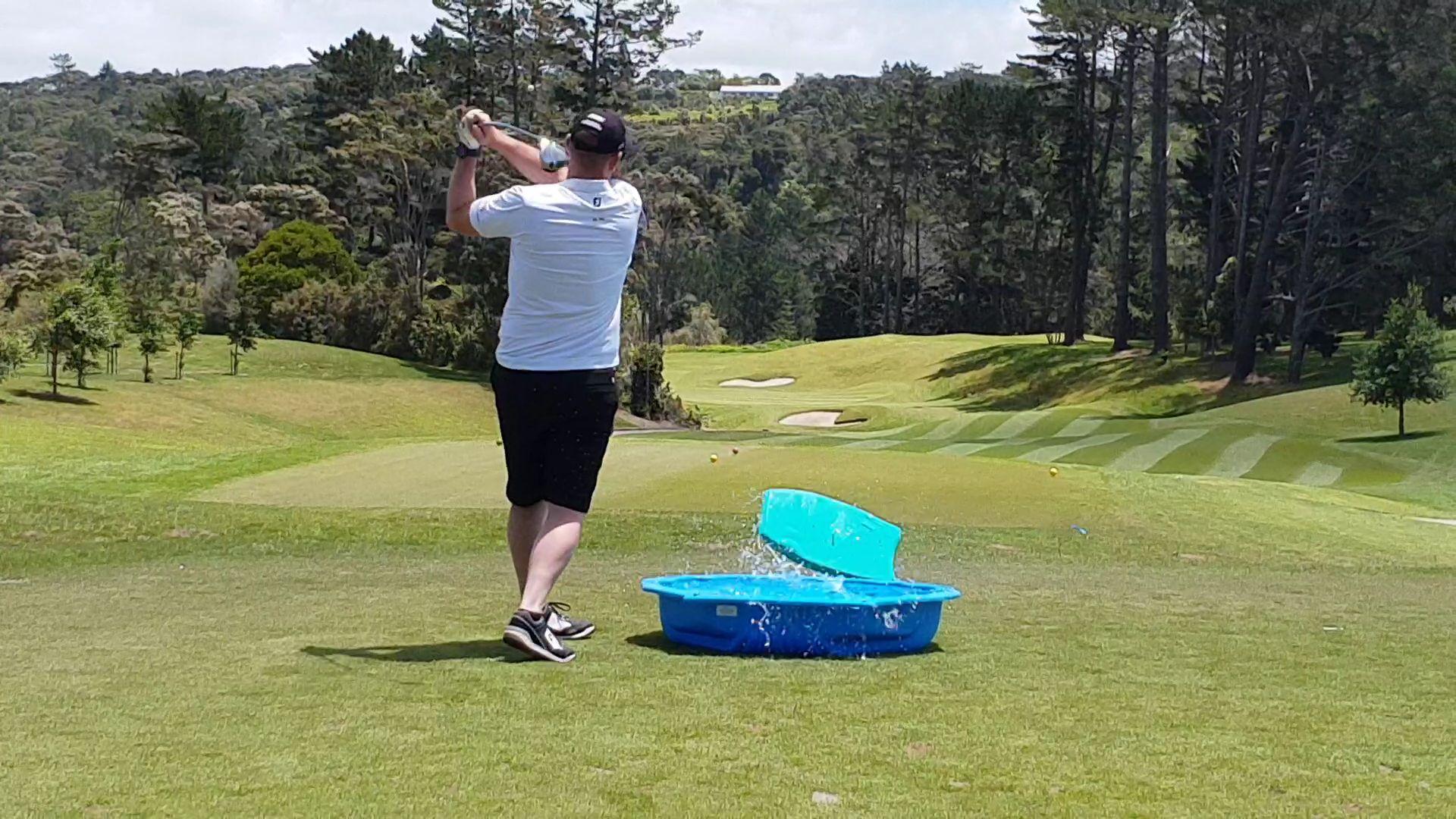 Paddling Pool Hole at Quadrent's Golf Day